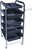 2015 Silla de peluquero Medical trolley with drawers/Salon Hair color trolley