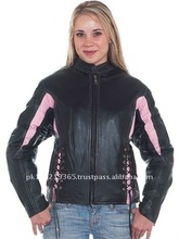 Ladies Leather Motorbike Jacket