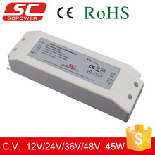 DALI dimmable 45W 24V constant voltage led power driver for led lights