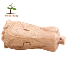 Gold-Rimmed Nanmu Cabbage Woodwork Creative Products Wholesale Wooden Massage Folk Handmade Craft Small Wood Crafts
