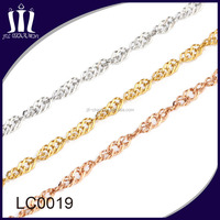 2015 Latest new gold chain design for women