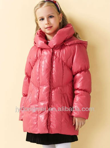 Girl Down Jacket Pink - Buy Duck Down Jacket,Shiny Down Jacket ...