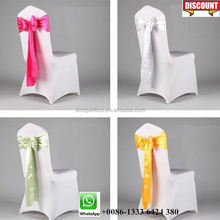 Foshan Guangzhou Quality banquet cover chair sashes for weding banquet