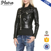 Leather Jacket black high quality clothing manufacture custom-design