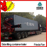 Side Lifting Container Semi Trailer Low