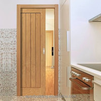Oak engineered doors solid modern natural design sliding pocket door