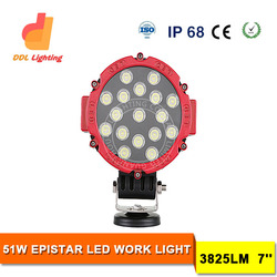 Wholesale Factory 51w led driving off road lamp 10-30v 96w 185w round led working light