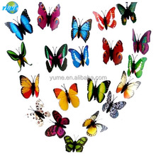 Home Decoration 3D Simulation Luminous Butterfly Glowing in the Dark Soft PVC Fridge Magnet - Promotional Gifts