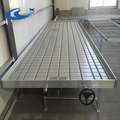 Strength ABS Plastic Greenhouse Ebb And Flow Rolling Table/Bench with ABS plastic tray /seeding