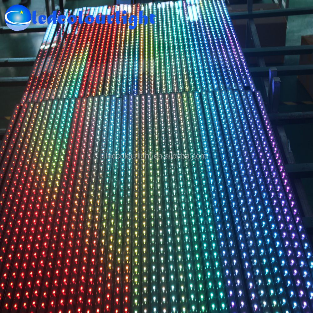 0.5m 1m DMX RGB digital bar light Madrix program DC12V linear bar LED lights Shenzhen factory