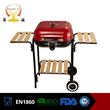Wholesale adjustable height balcony fire pit baking brazil barbeque grill