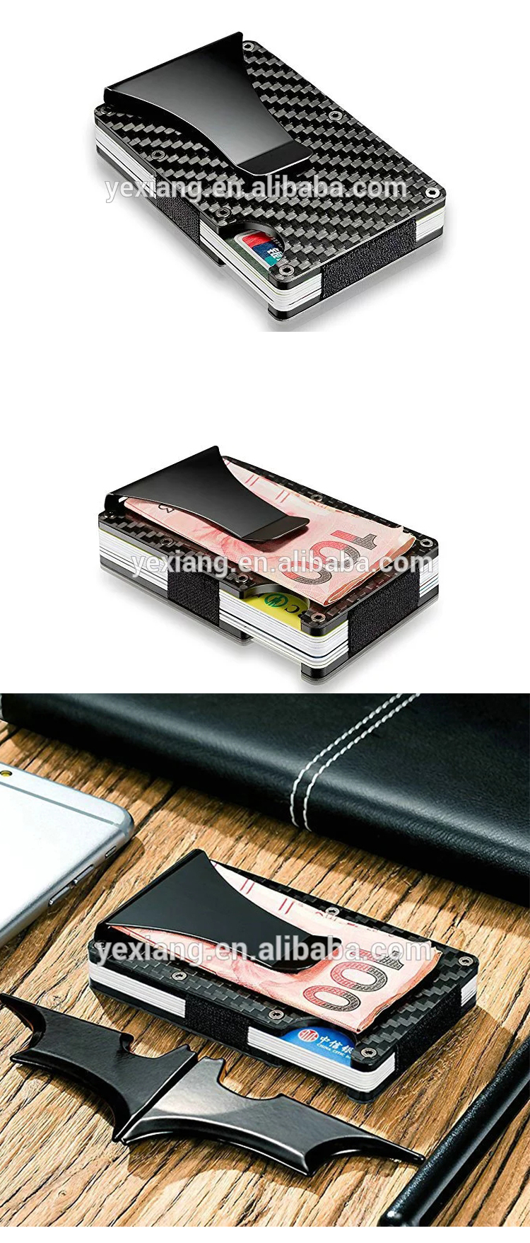 Best products in USA Wallet RFID Blocking Carbon Fiber Wallet Money Clip