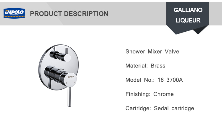3 Function wall mounted pressure balanced shower valve