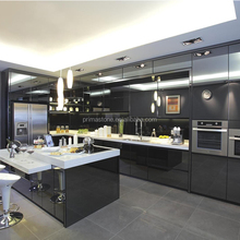 Hotel project customized modular kitchen cabinet color combinations