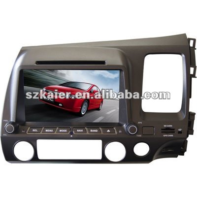 "8"" 2-Din Car media system and GPS navigation for Honda Civic(Right Side) with 8CD virtual,USB,SD,FM,TV and Arabic"