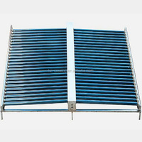 non pressure 50 evacuated tubes manifold solar water collector