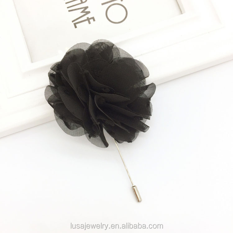 New arrival chiffon flower hijab pin brooch , women brooches BRL079