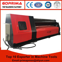 Hydraulic CNC 4 roller sheet bending machine with double pinch/stainless steel pipe rolling machine