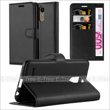 Lichee Pattern Wallet Flip Leather Phone Case Back Cover With Card Slots Stand For LG Stylus 2
