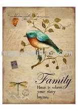 Hot Nature Piece with Family Letter Decorative Wooden Crafts