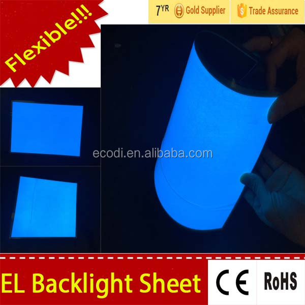 Cuttable el backlight sheet, el flash animated backlight, el backlight