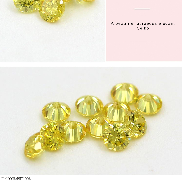 top quality synthetic corundum yellow cubic zircon jewelry