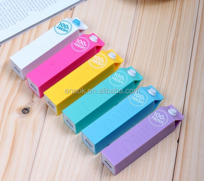 cylindrical Global hot 2600mah milk design power bank good for iphone/ipad/ipod samsung and Huawei smart phone promotional price