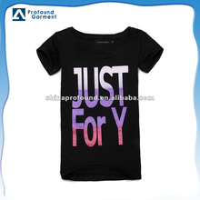 New model OEM printing short sleeve colour changing t shirt for women