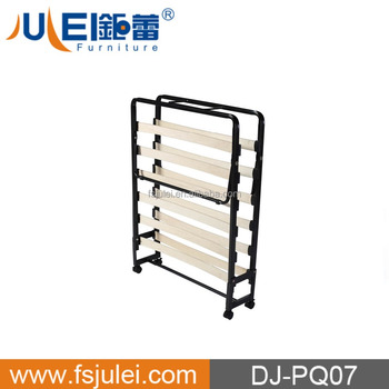 movable hotel extra bed folding metal bed frame DJ-PQ07