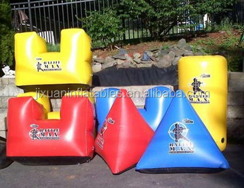 inflatable paintball bunkers/inflatable paintball arena toy