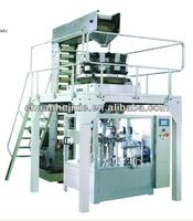Solid measuring and packaging production line