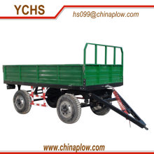 Farm four wheel tipper trailer with hydraulic power
