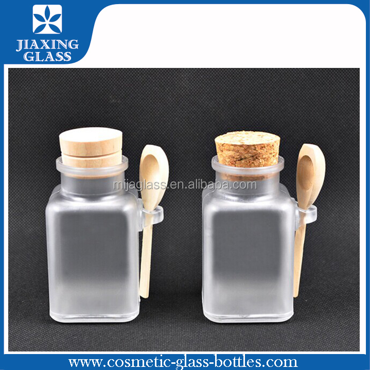 Square/Round Clear Plastic Bottle Empty Plastic Jar For Spices And Herbs With Cork
