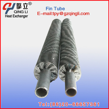 High frequency welding stainless steel spiral finned condenser tube for condenser part