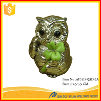 Factory Supply Decoration Craft Cute Style Owl Statues Resin Molds For Craft