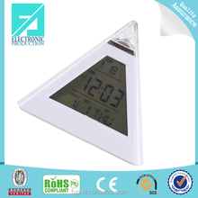 Fupu pyramid shape Modern Clock with LCD Screen, Pretty Electronic Clock, Desk Digital Alarm Clock for Home
