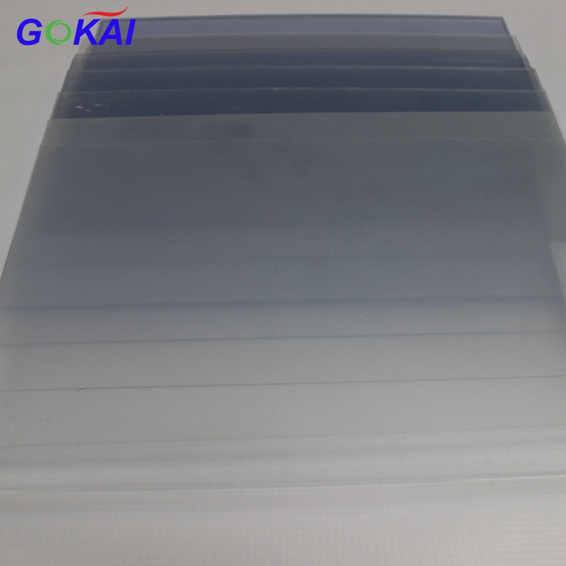 ROHS 4x8 3mm thick Rigid Transparent foil film/ clear pvc sheet with both masking