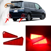 KEEN Hot Sale Auto LED Rear Bumper Light For Toyota Noah 12V Red Waterproof Tail light LED Reflector Brake Lamp