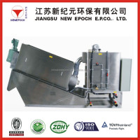 screw press sludge dewatering machine for sugar refining wastewater