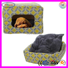 B781 Canvas Triangle Dog Kennel House Pet Nest Pad Bed Yellow Pet Dog House