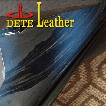 transitional patent pu leather fabric for shoes