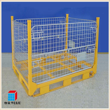Collapsible Mesh Stillage Metal Pallet Container