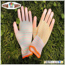 FTSAFETY 13G colourful nylon knit glove with pu Coated for lady garden working