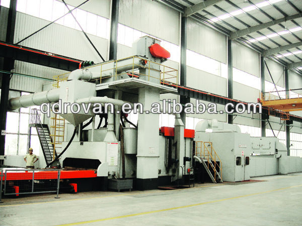 011 new chinese QXY Roller Bed Type Shot Blasting and Painting Machine