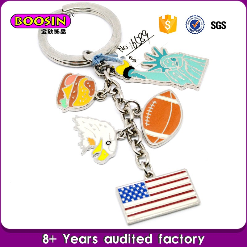 Enamel key chain,custom key chain metal key chain for wholesale