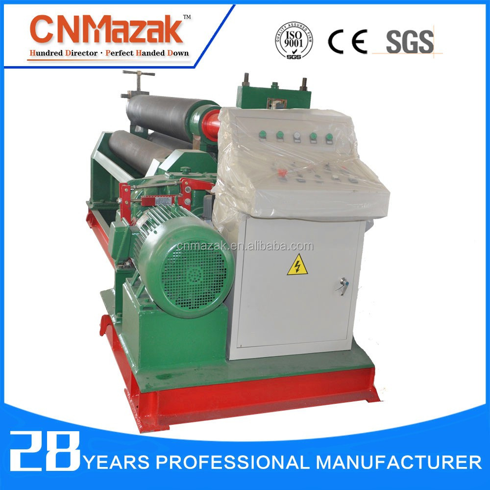 China <strong>W11</strong> 20x2500mm Mechanical 3 Rollers rolling machine, mechanical rolling machine