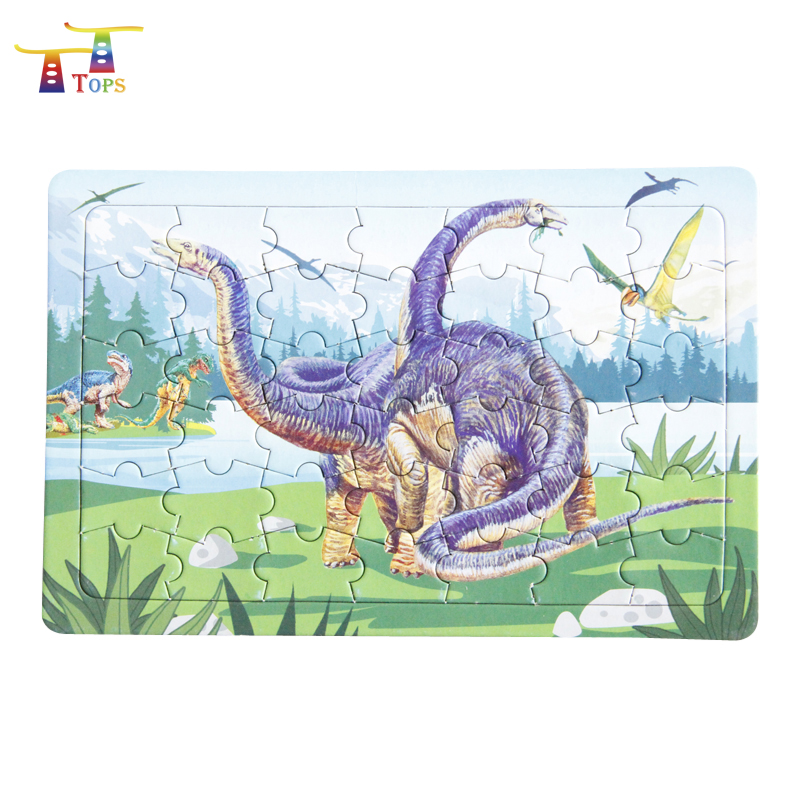 Size Customized Printing India Kids Toy; Children Game 24pcs Cheap Price High Quality Free Jigsaw Production Dragon Puzzle