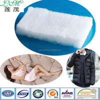 Microfiber high clo value polyester wadding used for garment and home textiles