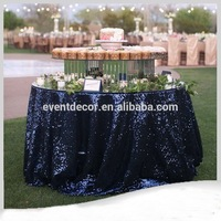 Glitter sequined customized size black table cloths / any color you want table cover
