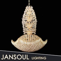 Custom flower shape crystal ball flash chandelier from Jansoul lighting Co